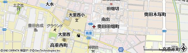 愛知県稲沢市奥田田畑町周辺の地図