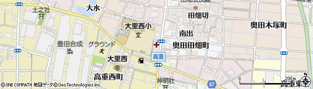 愛知県稲沢市奥田町(下天白)周辺の地図