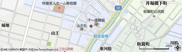 愛知県稲沢市平和町観音堂(屋敷)周辺の地図