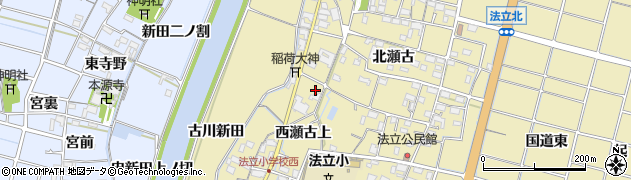 愛知県稲沢市平和町法立(川外)周辺の地図
