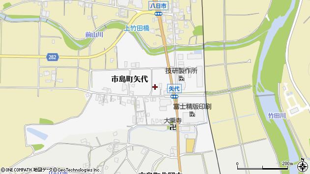 〒669-4342 兵庫県丹波市市島町矢代の地図