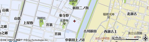 愛知県稲沢市祖父江町三丸渕(新田一ノ割)周辺の地図