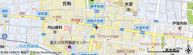 静岡県富士宮市大宮周辺の地図