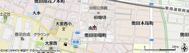 愛知県稲沢市奥田町(南出)周辺の地図