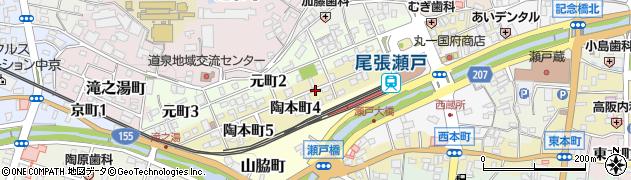 愛知県瀬戸市陶本町周辺の地図