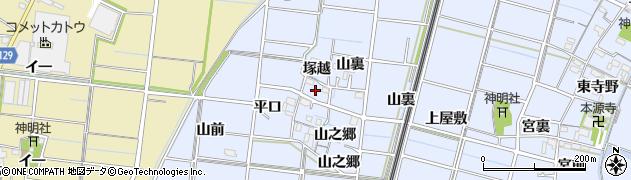 愛知県稲沢市祖父江町三丸渕(平口)周辺の地図
