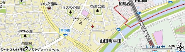 愛知県名古屋市西区山木周辺の地図