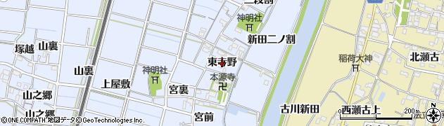 愛知県稲沢市祖父江町三丸渕(東寺野)周辺の地図