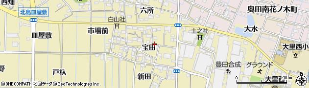 愛知県稲沢市北島町(宝田)周辺の地図