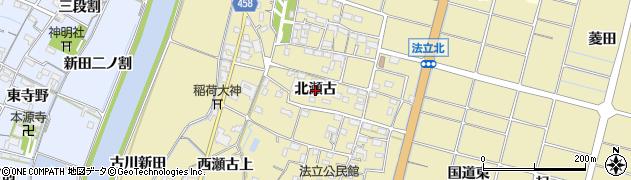 愛知県稲沢市平和町法立(北瀬古)周辺の地図