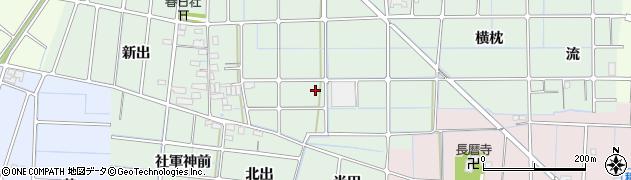 愛知県稲沢市堀之内町(一丁田)周辺の地図