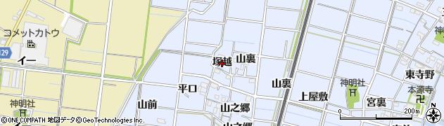 愛知県稲沢市祖父江町三丸渕(塚越)周辺の地図