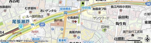 金福周辺の地図