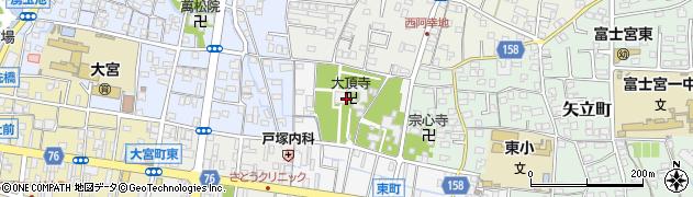 大頂寺周辺の地図