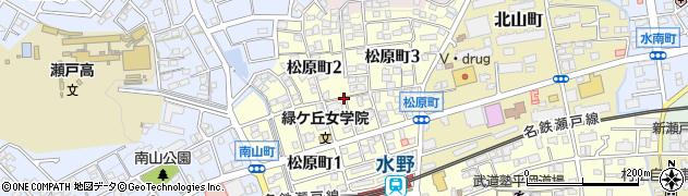 愛知県瀬戸市松原町周辺の地図