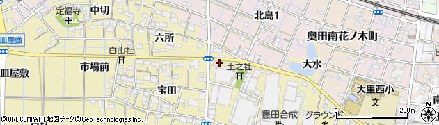 愛知県稲沢市北島町(大門西)周辺の地図
