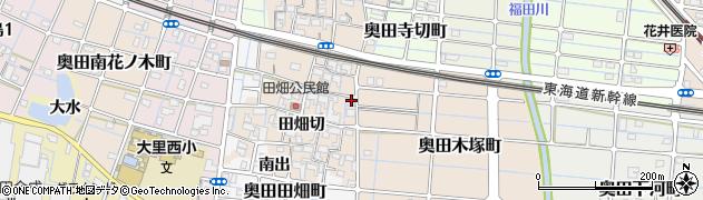 愛知県稲沢市奥田町(夜須摩)周辺の地図