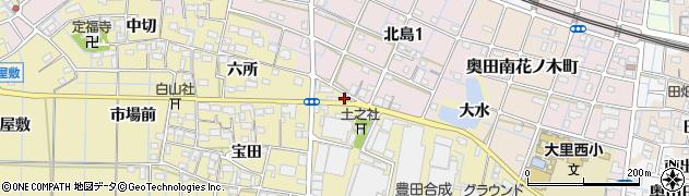 愛知県稲沢市北島町(山之浦)周辺の地図