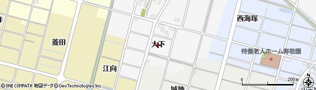 愛知県稲沢市平和町須ケ谷(大下)周辺の地図