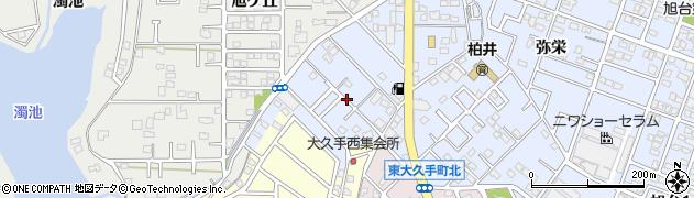 愛知県尾張旭市柏井町(公園通)周辺の地図