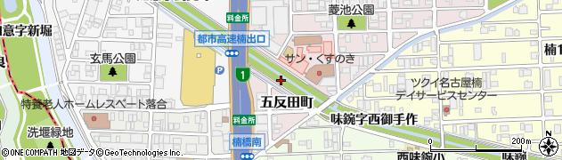 愛知県名古屋市北区楠町(如意字尻広)周辺の地図