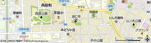 道仁寺周辺の地図