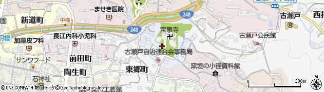 愛知県瀬戸市寺本町周辺の地図
