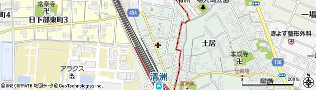 愛知県稲沢市北市場町(東玄野)周辺の地図