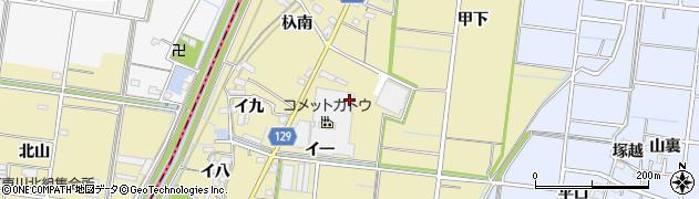 愛知県稲沢市祖父江町甲新田(イ十)周辺の地図