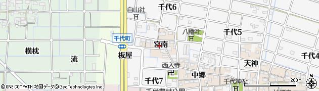 愛知県稲沢市千代町(宮南)周辺の地図