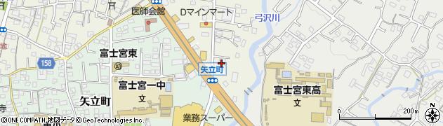 げんさん富士宮店周辺の地図