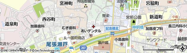 愛知県瀬戸市朝日町周辺の地図