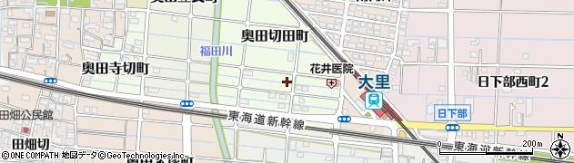 愛知県稲沢市奥田町(切田)周辺の地図