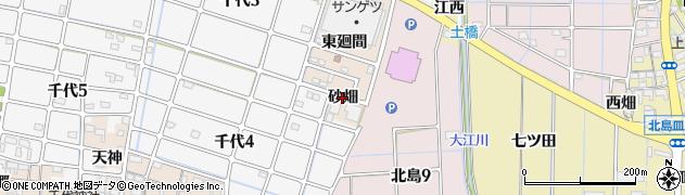 愛知県稲沢市千代町(砂畑)周辺の地図