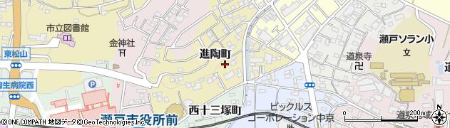 愛知県瀬戸市進陶町周辺の地図