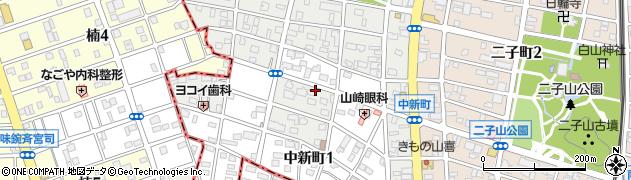 愛知県春日井市中新町周辺の地図