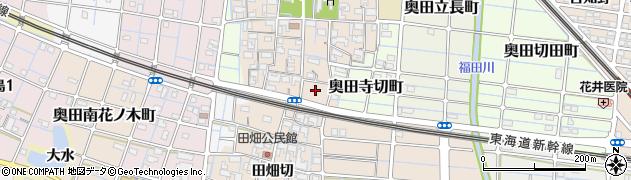 愛知県稲沢市奥田町(城戸切)周辺の地図