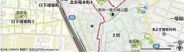 愛知県稲沢市北市場町(玄野)周辺の地図