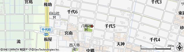 愛知県稲沢市千代町(社宮地)周辺の地図