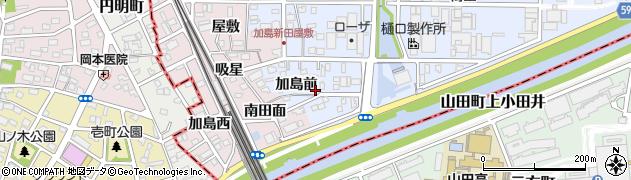愛知県北名古屋市九之坪(加島前)周辺の地図