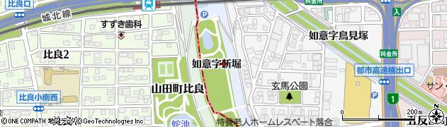 愛知県名古屋市北区楠町(如意字新堀)周辺の地図