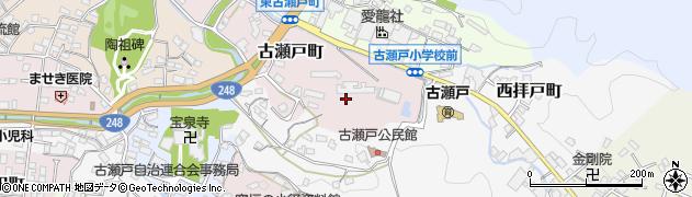 愛知県瀬戸市古瀬戸町周辺の地図