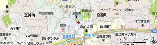 愛知県瀬戸市深川町周辺の地図