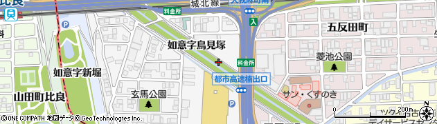 愛知県名古屋市北区楠町如意字鳥見塚周辺の地図