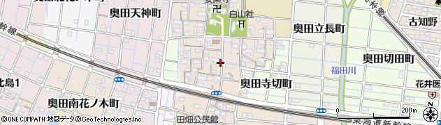愛知県稲沢市奥田町周辺の地図