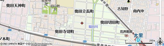 愛知県稲沢市奥田立長町周辺の地図