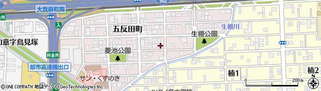愛知県名古屋市北区五反田町周辺の地図