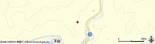 愛知県豊田市三箇町(下山)周辺の地図