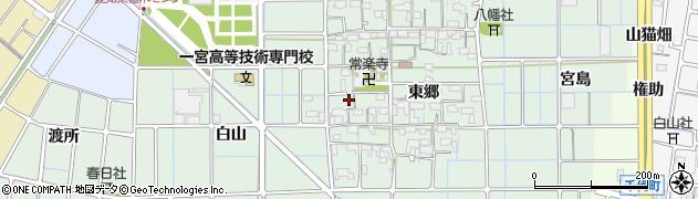 愛知県稲沢市堀之内町(西郷)周辺の地図