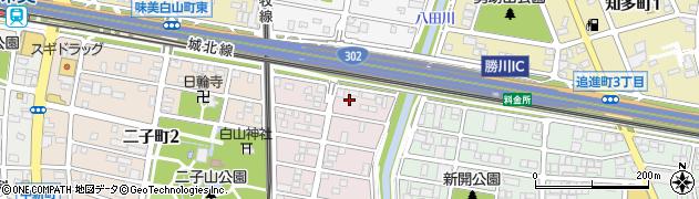 愛知県春日井市南花長町周辺の地図